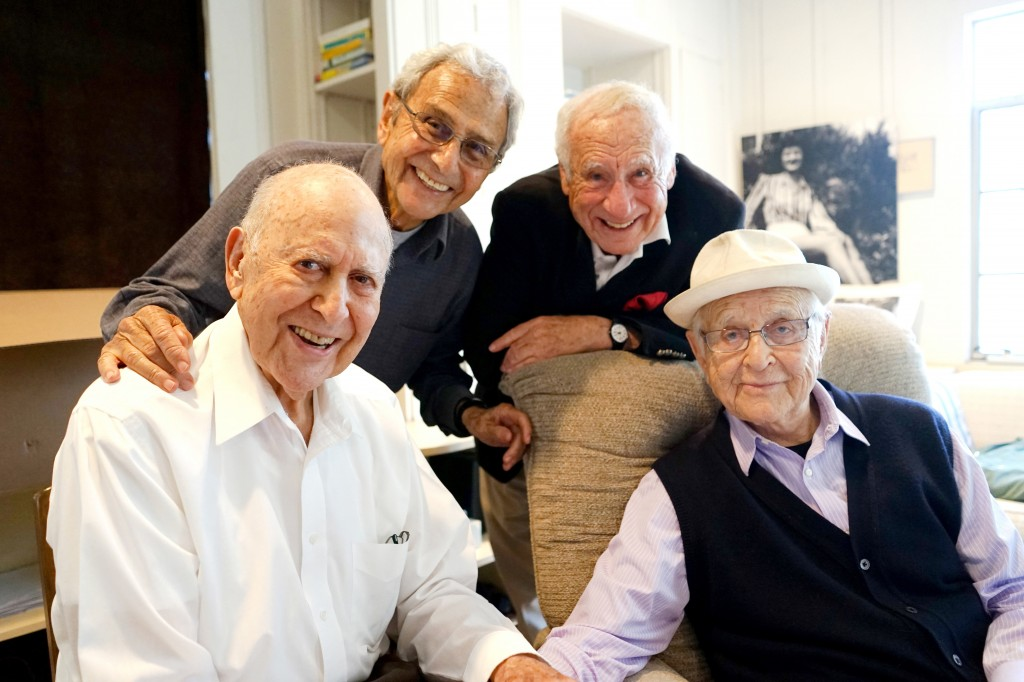 Carl Reiner, George Shapiro, Mel Brooks, and Norman Lear in If You're Not in the Obit, Eat Breakfast